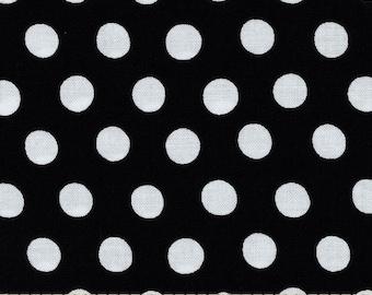 NEW Free Spirit Kaffe Fassett Spot Noir Black and White Polka Dots Fabric BTY