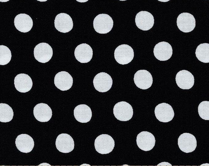 NEW Free Spirit Kaffe Fassett Classics Spot Noir Black and White Polka Dots Fabric BTHY
