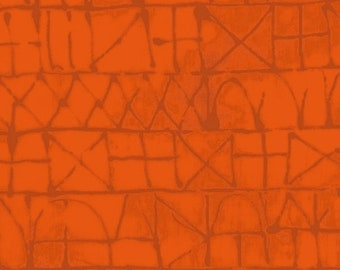 NEW Windham Art History 101 by Marcia Derse Graphic Klee Orange Rust Fabric 50415-10 BTY