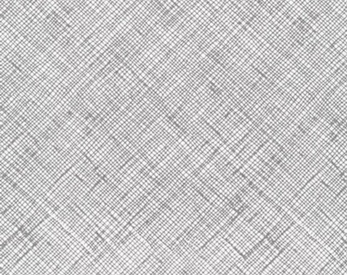 Robert Kaufman Carolyn Friedlander Architextures Gray Grey Criss Cross 13503-12 Fabric BTY
