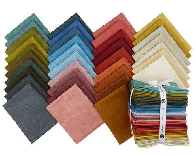 NEW Andover Edyta Sitar Laundry Basket Quilts LBQ Favorites Linen Texture Red Green Blue 36 Fat Quarter Bundle Fabric