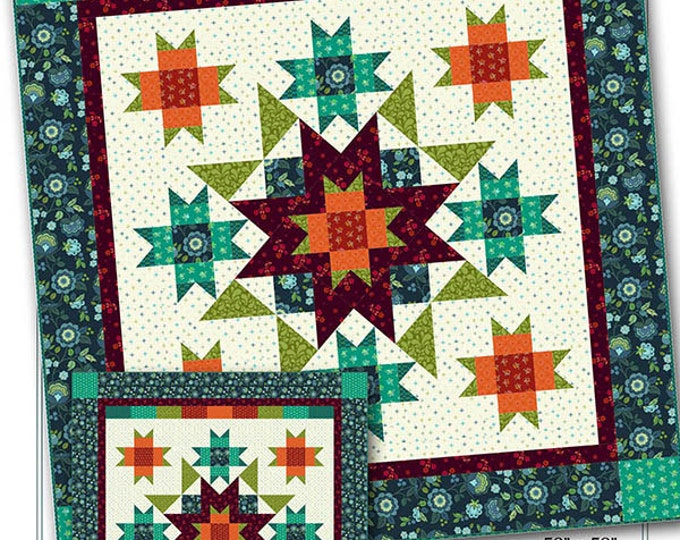 Nancy Rink Designs More Than Stars 52 x 52 or 83 x 101 Quilt Pattern Free Ship
