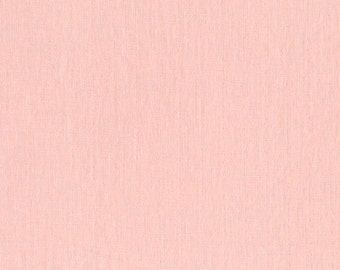 BeSpoke NATURAL Peach Pink Solid Double Gauze Lightweight Cotton and Steel Fabric 1.75 Yards