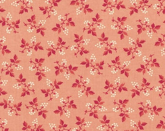 RJR Chocolate & Bubble Gum Cream Pink Tonal Floral Civil Way Fabric 2718-001 BTY
