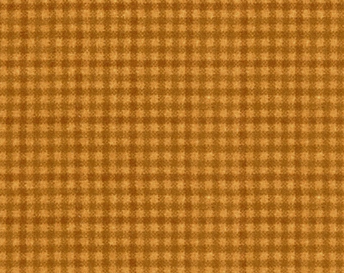 Maywood Woolies Gold on Gold Plaid FLANNEL Fabric MASF-18141-S BTY