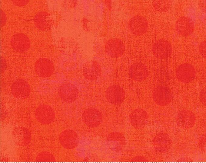 Moda Basic TANGERINE Hits the Spot Orange Pink Polka Dot Grunge 30149-19 Fabric BTY