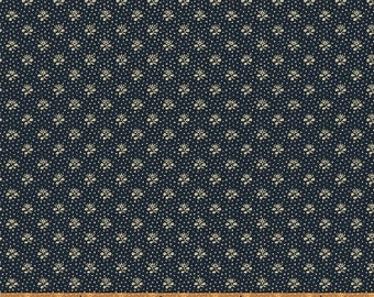 Windham The Blue and The Grey Navy Blue Floral with dots Civil War Reproduction  42151-1 Fabric BTY