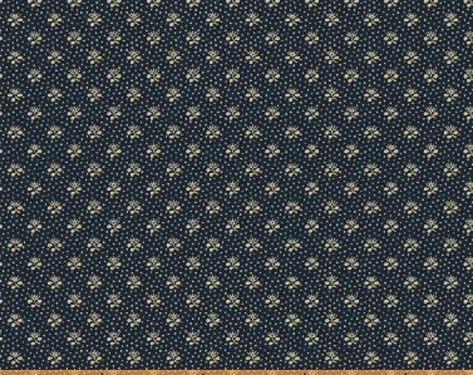 Windham The Blue and The Grey Navy Blue Floral with dots Civil War Reproduction  42151-1 Fabric BTHY