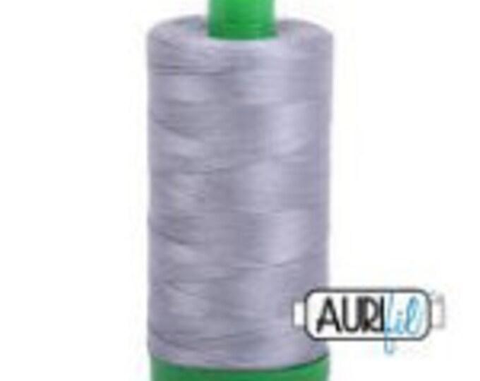 AURIFIL MAKO 40 Wt 1000m 1039y Color 2605 Gray Quilt Cotton Quilting Thread