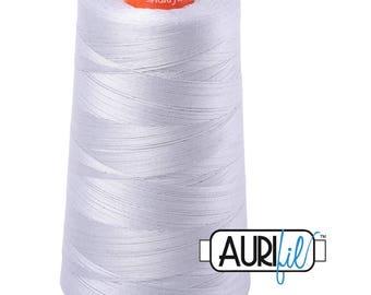 AURIFIL Cone MAKO 50 Wt 5900 Meters 6452 Yds Color 2600 Dove Quilt Cotton Quilting Thread