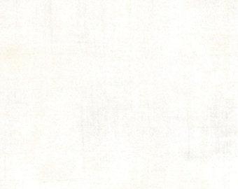Moda Grunge Basics VANILLA White Mottled Background Fabric 30150-91 BTY