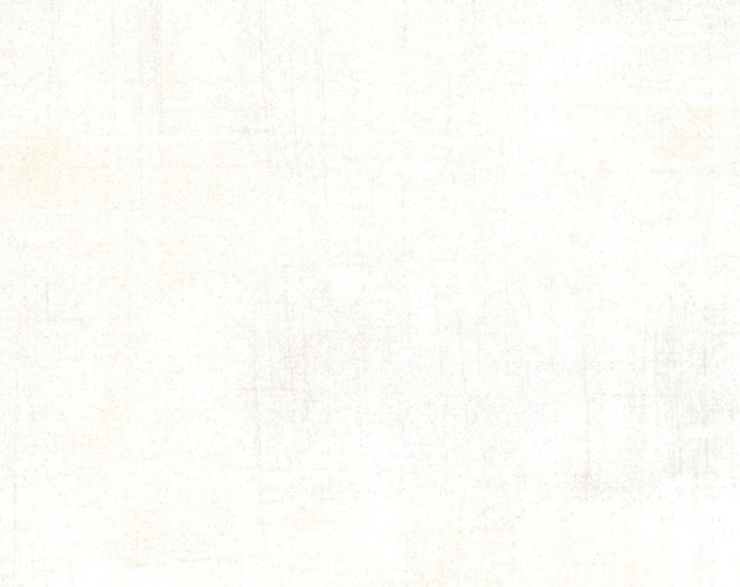 Moda Grunge Basics VANILLA White Mottled Background Fabric 30150-91 BTY