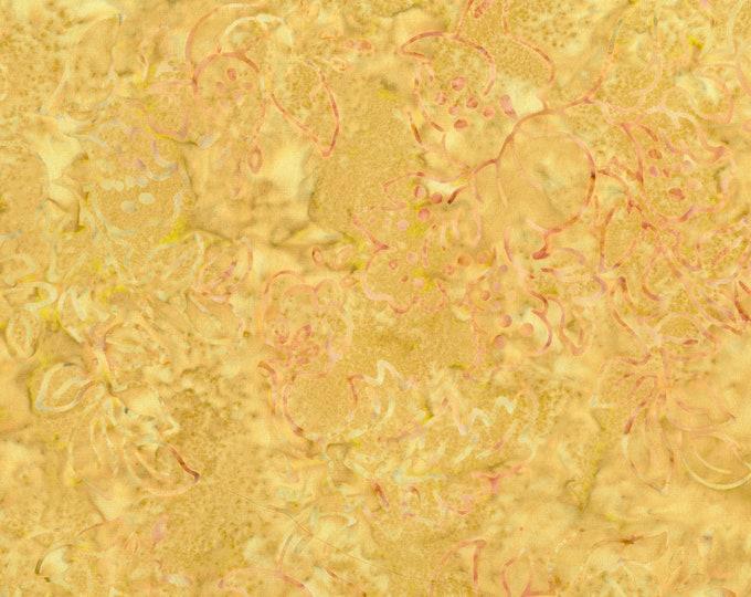 RJR Jinny Beyer Malam Batik Yellow Gold Floral Swirl Batik 2979-001 Fabric BTY