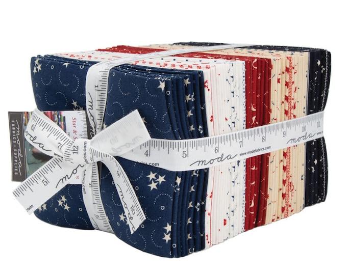 NEW Moda Primitive Gatherings Star and Stripe Gatherings Red White Blue Patriotic 40 Fat Quarter Fabric FQ Bundle