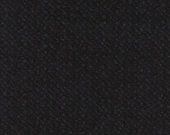 Maywood Woolies Black Brown Nubby Tweed FLANNEL Fabric MASF-18505-J BTY