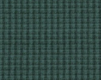 Maywood WOOLIES Blue Green Teal Double Weave Plaid Masf-18504-BG Flannel Fabric BTY
