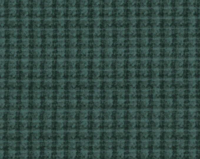 Maywood WOOLIES Blue Green Teal Double Weave Plaid 18504-BG Flannel Fabric BTY