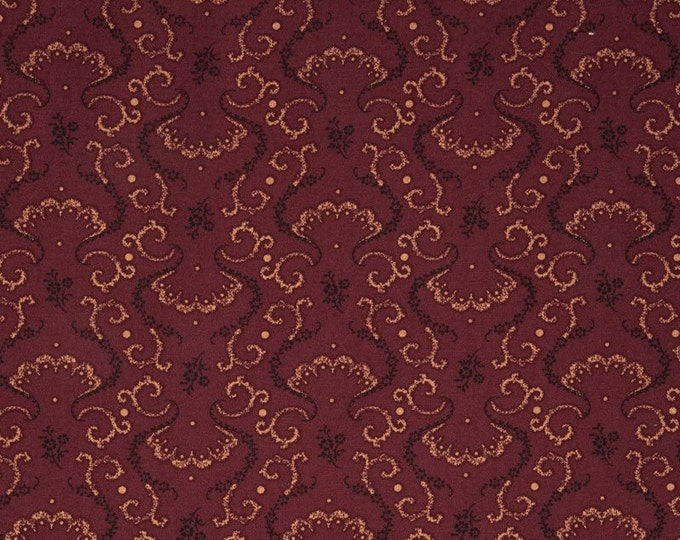 Windham Kindred Spirits Red Gold Black Accents Civil War Reproduction 40217-7 Fabric BTY