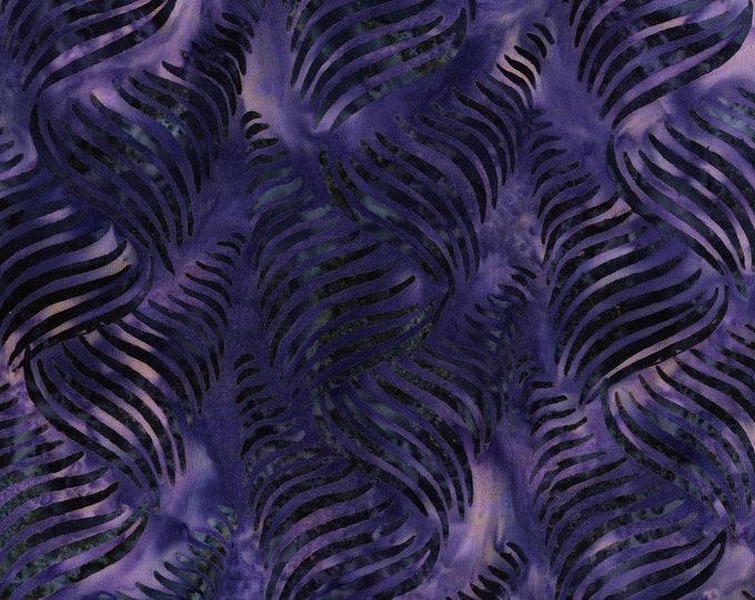 RJR Jinny Beyer Malam Batik Purple Grape Wave Line Batik 3286-004 Fabric BTY