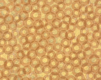 Moda Mon Ami Registre Mustard Yellow Gold Moutarde Circles Fabric 30415-17 BTY