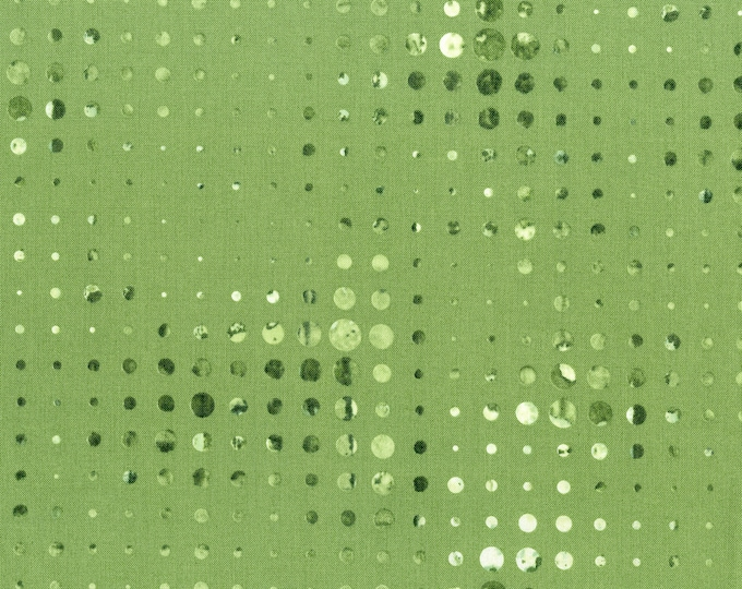 RJR Urban Artifacts Leslie Tucker Jenison Linear Gradation Green Fabric 3069-002 BTY