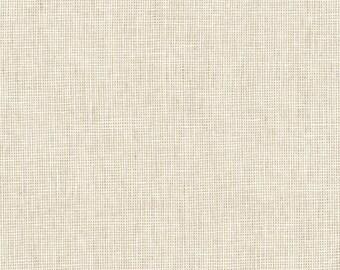 Kaufman Essex Yarn Dyed Homespun Cotton Linen Blend Canvas Limestone Light Beige Cream Fabric E114-478 BTY