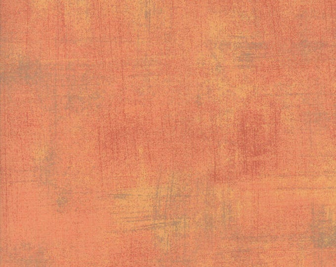 Moda Grunge Basics CANTALOUPE Orange Peach Mottled Background 30150-424 Fabric BTY