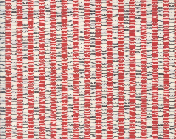 Moda Sweetwater FREEDOM Allegiance Vanilla White Red Navy Blue Pledge of Allegiance Fabric 5643-11 BTY