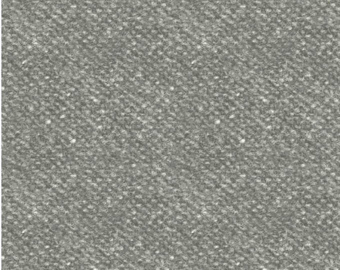 Maywood Woolies Charcoal Grey Gray Nubby Tweed FLANNEL Fabric 18507-K BTHY