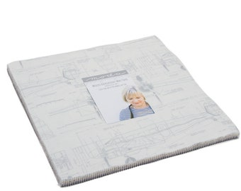 Moda Zen Chic Modern Backgrounds More Paper White Layer Cake 42 Fabric 10 Inch Squares