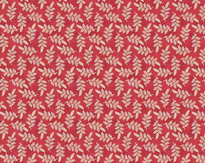 Maywood The Little Things  Red Variegated Leaves MAS9103-RE BTY