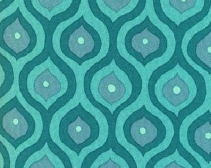 Free Spirit  Olive Rose Fabric Valori Wells -Olive Emerald curves Cotton 07600-84 BTY