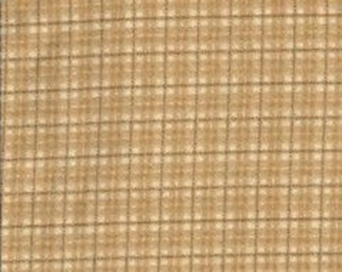 Maywood Woolies Tan Brown Yellow Plaid FLANNEL Fabric MASF-18502-T BTHY
