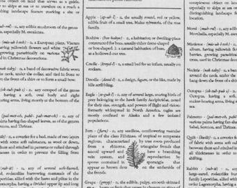 RJR Fine Print Brenda Ratliff Dictionary White Black Low Volume Fabric BTY 2876-001