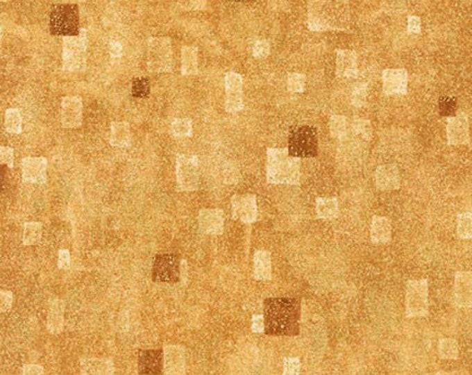 Robert Kaufman Gustav Klimt Tan Gold Yellow Cotton Gilded Square Fabric BTHY 17181-13