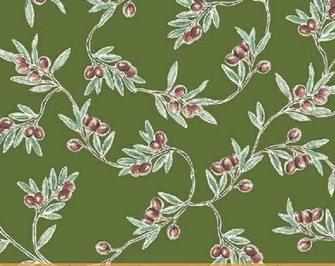 Windham Bella Toscana Tuscany Italian Olives Olive Green Fabric 51353-5 BTY