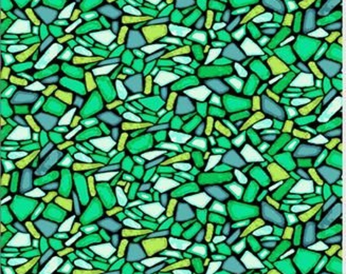 PB Textiles Fabric Art Glass 00818 Green Cotton Fabric BTY