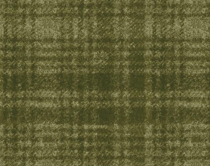 Maywood Woolies Green Olive Sage Large Windowpane Plaid FLANNEL Fabric 18501-G BTHY