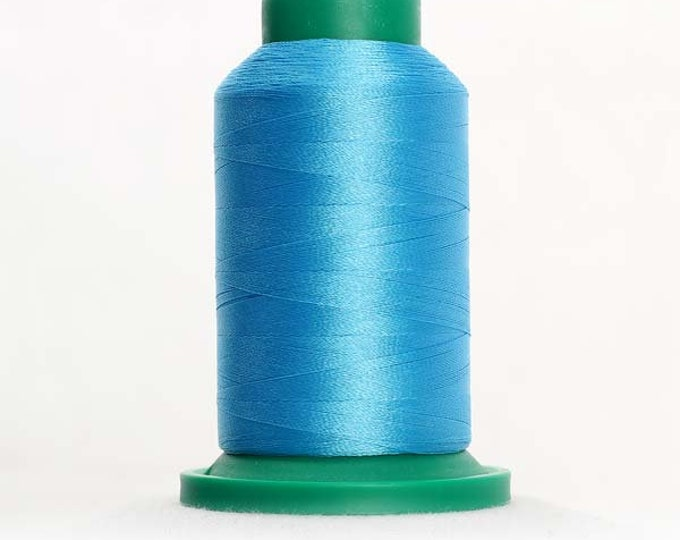 ISACORD Polyester Embroidery Thread Color 3910 Crystal Blue 1000m