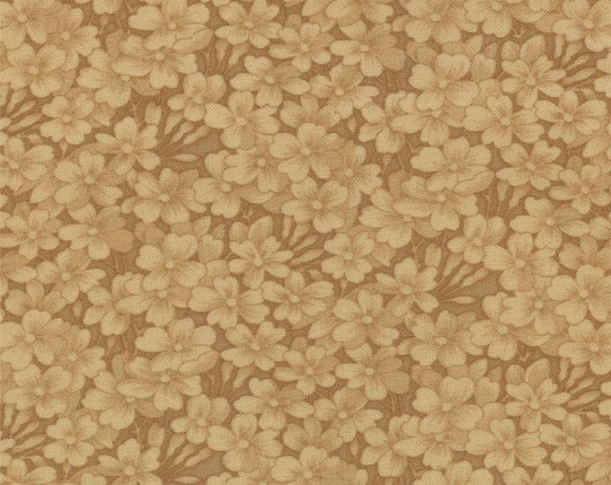 Moda Kansas Troubles Favorites Tan Brown Beige Floral Civil War Fabric 9419-11 BTY