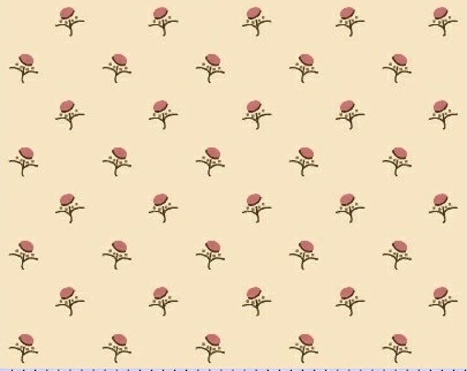 Marcus Karen Styles Devon County Civil War Cream Beige Shirting Background Fabric 7989-0190 BTY