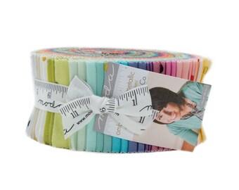 Moda Ombre Confetti Metallic by V and Co Vanessa Christenson Jelly Roll 2.5 Fabric Strips