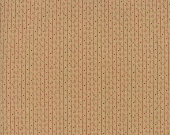 Moda Collections Compassion Civil War Tan Red Dot Stripe Fabric 46253-15 BTY