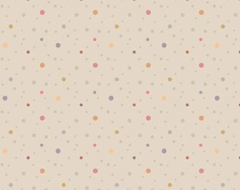 Marcus Nancy Rink On Plumberry Lane Beige  Lavender Tan Dot Fabric 2279-0158 BTY