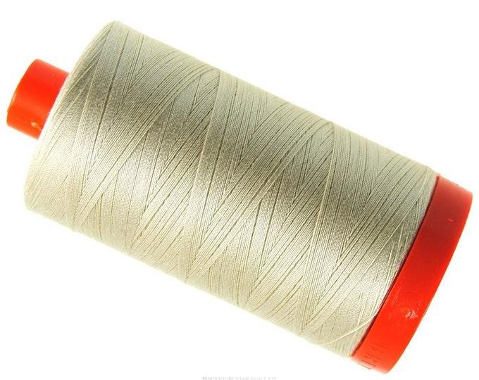 AURIFIL MAKO 50 Wt 1300m 1422y Color 2310 Light Beige Cream Neutral Quilt Cotton Quilting Thread