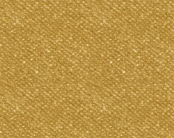 Maywood Woolies Dijon Mustard Yellow Nubby Tweed FLANNEL Fabric 18507-S BTY