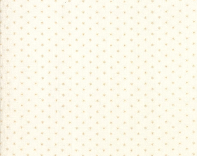 Moda Liberty Gatherings Cream White with Tan Beige Star Fabric 1205-24 BTY