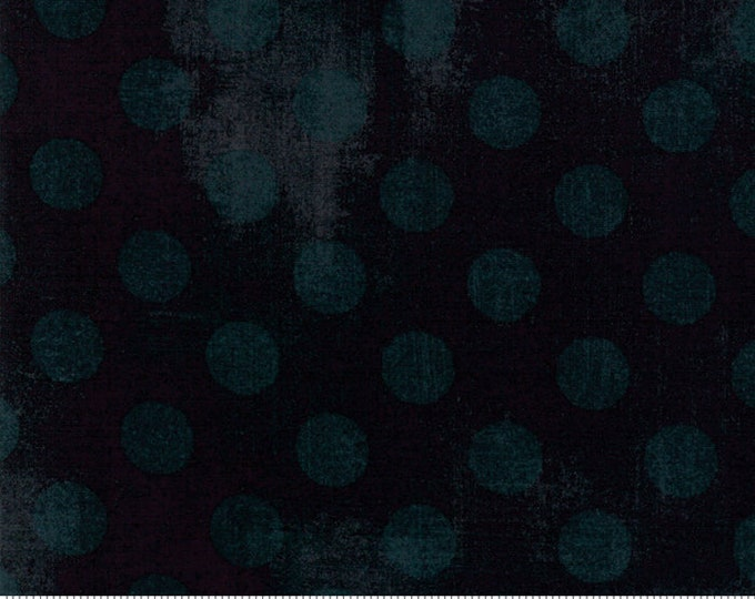 Moda Basic Grunge BLACK DRESS Hits the Spot Cotton 108 WIDE Fabric 3 yard cut 11131-34