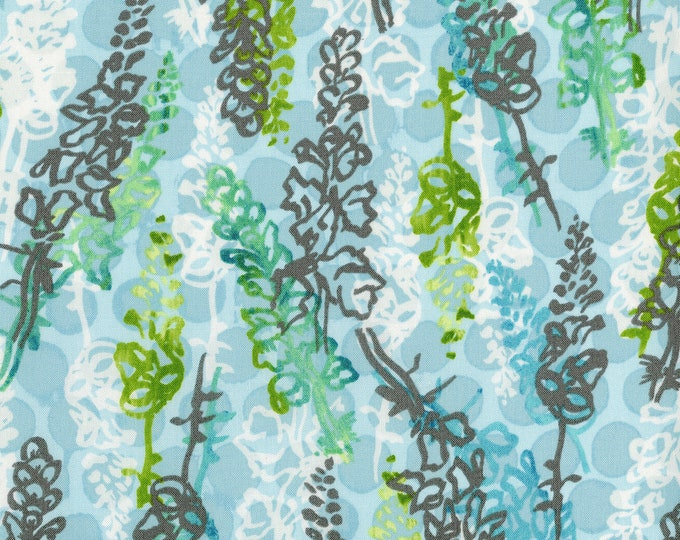 RJR Urban Garden Leslie Tucker Jenison Snappy dragons Maricopa Jasper Blue Fabric 3358-001 BTY