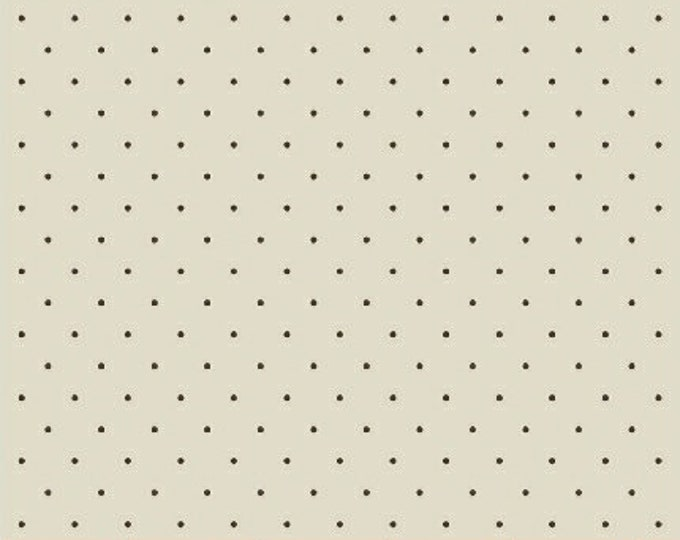 Windham Madeline Julie Hendrickson Cream with Brown Tiny Polka Dot Civil War Fabric BTY 43463-1